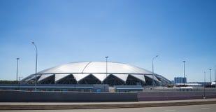 翼果竞技场橄榄球场 在2018年翼果-主持世界杯足球赛的城市在俄罗斯 免版税库存照片