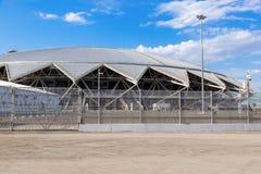 翼果竞技场橄榄球场 库存照片