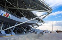 翼果竞技场橄榄球场 免版税库存图片