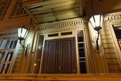 翼果,俄罗斯- 2016年10月12日:阿列克谢Tolstoy博物馆庄园的门面  免版税库存图片