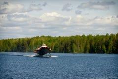 水翼艇小船 库存图片