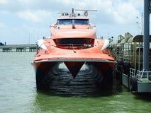 水翼艇轮渡 库存照片