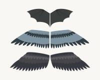 翼被隔绝的动物羽毛鸟翼末端鸟自由飞行和自然鹰生活和平设计飞行飞过的元素老鹰 向量例证