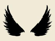 翼 向量例证