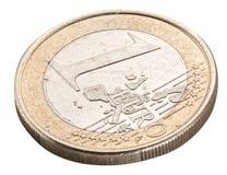 老一枚欧洲硬币 免版税库存图片
