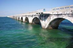 老七英里桥梁 免版税库存图片
