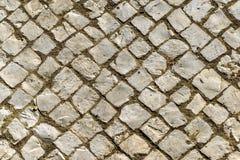老不规则的倾斜的鹅卵石背景  免版税库存照片