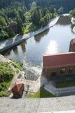 老与氢结合的发电站 库存照片