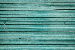 老与蓝色颜色油漆,背景的土气墙壁木头的葡萄酒木板条 免版税库存图片