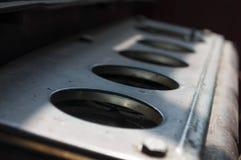 老与铁锈的铁备件对此 图库摄影