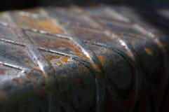 老与铁锈的铁备件对此 库存图片