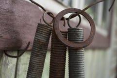 老与铁锈的铁备件对此 库存照片