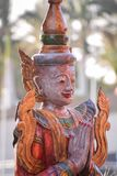 老东方佛教雕象雕刻 免版税图库摄影