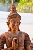 老东方佛教雕象雕刻 免版税库存图片
