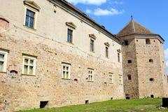 老中世纪堡垒在城市Fagaras,特兰西瓦尼亚 图库摄影
