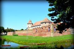 老中世纪堡垒在城市Fagaras,特兰西瓦尼亚 免版税库存图片