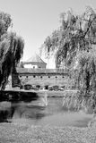 老中世纪堡垒在城市Fagaras,特兰西瓦尼亚 库存照片