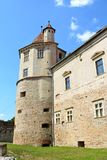 老中世纪堡垒在城市Fagaras 免版税库存图片