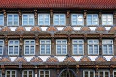 老中世纪大厦在Hameln,德国 图库摄影
