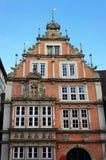 老中世纪大厦在Hameln,德国 库存照片
