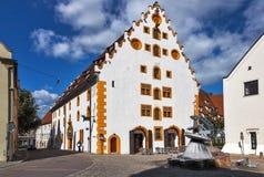 老中世纪大厦- Nordlingen -德国 库存照片