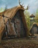 老中世纪小屋 免版税库存照片