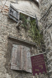 老中世纪房子在特罗吉尔,联合国科教文组织镇,克罗地亚 库存图片