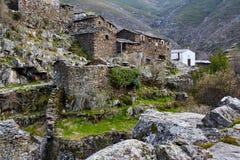 老中世纪村庄Drave在葡萄牙, Arouca,阿威罗 库存照片