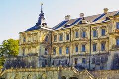 老中世纪Pidhirtsi城堡17世纪在乌克兰 免版税库存照片