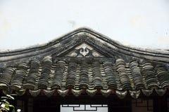 老中国大厦屋顶  免版税图库摄影