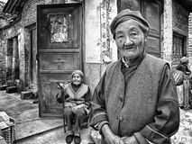 老中国妇女 图库摄影