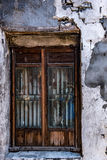 老中国式窗口在一个古镇 库存图片
