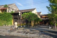 老中国房子在老镇 hoi越南 图库摄影
