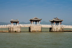 老中国桥梁 免版税库存图片