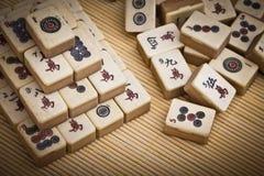 老中国比赛mahjongg 免版税库存图片