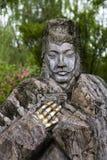 老中国石雕象 免版税库存图片