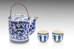 老中国茶壶集合 库存照片