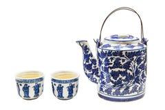 老中国茶壶集合 图库摄影