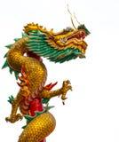老中国龙雕象 免版税库存照片