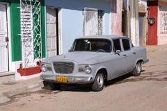 老丰田在古巴 免版税库存图片