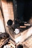 老丹麦壁炉 免版税库存图片