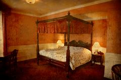 老丹麦有四根帐杆的卧床旅馆 免版税库存图片
