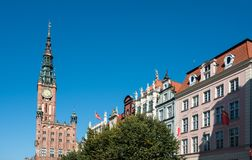 老主要城镇厅在格但斯克,波兰 库存照片