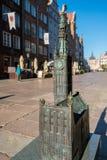 老主要城镇厅模型在格但斯克,波兰 图库摄影