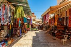 老义卖市场在耶路撒冷,以色列。 库存图片