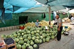 老义卖市场,斯科普里,马其顿 库存图片