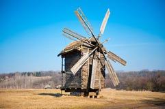 老乌克兰风车 库存照片