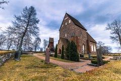 老乌普萨拉- 2017年4月08日:老乌普萨拉, Swed石教会  库存图片
