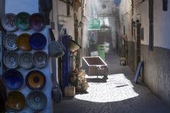 老乡情街道在Esssaouira 库存照片