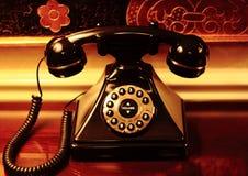 老书桌电话 库存照片